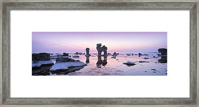 Rocks On The Beach, Faro, Gotland Framed Print by Panoramic Images