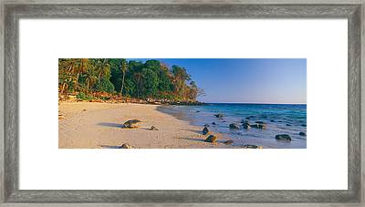 Rocks On The Beach, Phi Phi Islands Framed Print by Panoramic Images