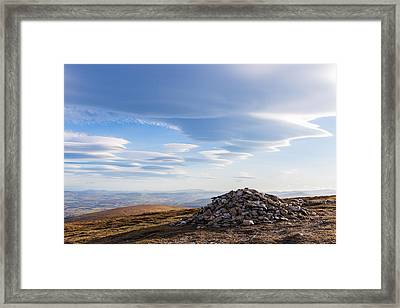 Rocks Piled Up On Djouce Mountain Summit Framed Print by Semmick Photo