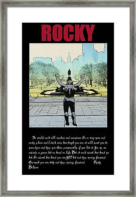 Rocky - All Sunshine And Rainbows Framed Print by Bill Cannon