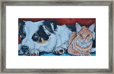 Rocky And Dexter Framed Print by Patti Schermerhorn