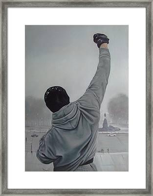 Rocky Balboa Framed Print by Riard