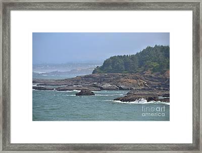 Rocky Coast Framed Print by Shauna Fackler