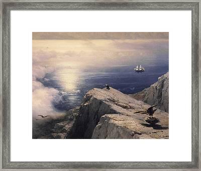 Rocky Coastal Framed Print by Ivan Konstantinovich Aivazovsky
