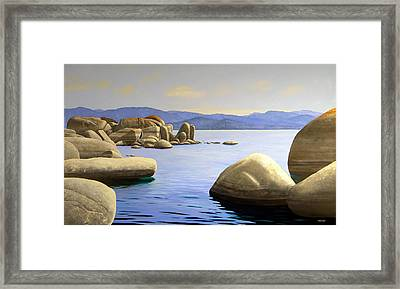 Rocky Cove On Lake Tahoe Framed Print by Frank Wilson