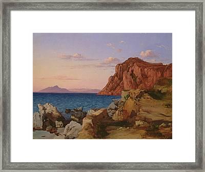 Rocky Landscape Framed Print by Antal Ligeti