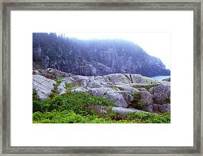 Rocky Maine Coast Framed Print by Amanda Kiplinger