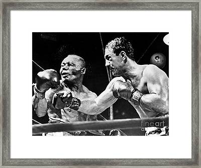 Rocky Marciano Vs Jersey Joe Walcott Framed Print by Anthony Morretta