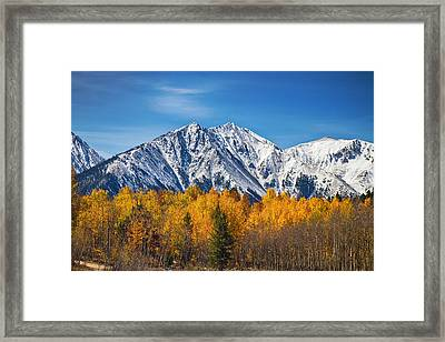 Rocky Mountain Autumn High Framed Print by James BO  Insogna