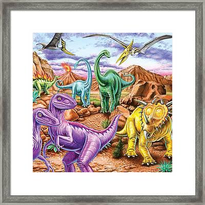 Rocky Mountain Dinos Framed Print by Mark Gregory