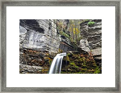 Rocky Mountain Falls Framed Print by Frozen in Time Fine Art Photography