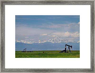 Rocky Mountain Front Range Oil Framed Print by James BO  Insogna