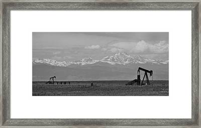 Rocky Mountain Front Range Oil Panorama Bw Framed Print by James BO  Insogna