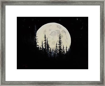 Rocky Mountain Moon Framed Print by C Steele
