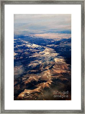 Rocky Mountain Peaks From Above Framed Print by Darleen Stry