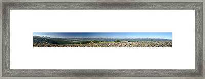 Rocky Mountain Rooftop Panoramic Framed Print by Jeremy Rhoades