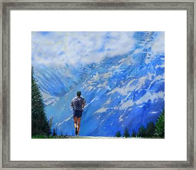 Rocky Mountain Run Framed Print by Edward Pollick