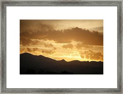 Rocky Mountain Sunset 2 Framed Print by Marilyn Hunt