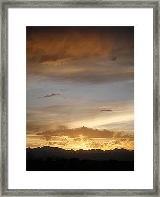 Rocky Mountain Sunset 3 Framed Print by Marilyn Hunt