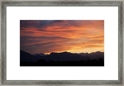 Rocky Mountain Sunset Framed Print by Marilyn Hunt