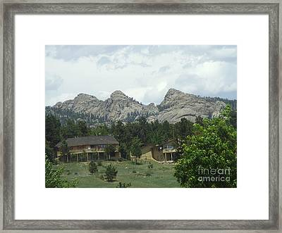Rocky Mountains 1 Framed Print by John Morris
