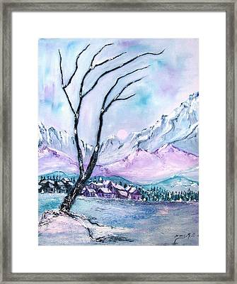 Rocky Mountains 3 Framed Print by Doris Cohen
