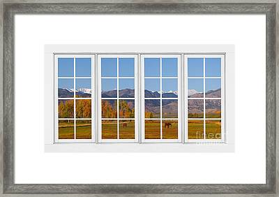 Rocky Mountains Horses White Window Frame View Framed Print by James BO  Insogna