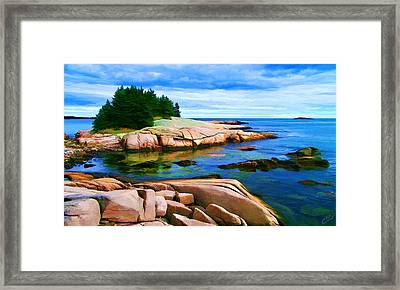 Rocky Point At Great Waas Framed Print by Bill Caldwell -        ABeautifulSky Photography