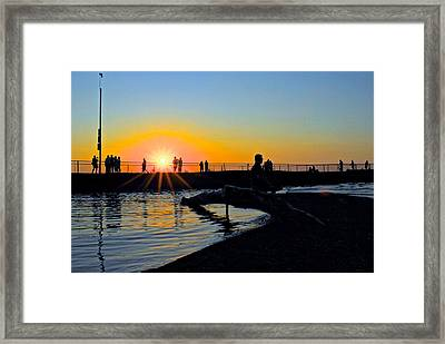 Rocky River Ohio Framed Print by Frozen in Time Fine Art Photography