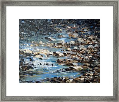 Rocky Shore Framed Print by Joanne Smoley