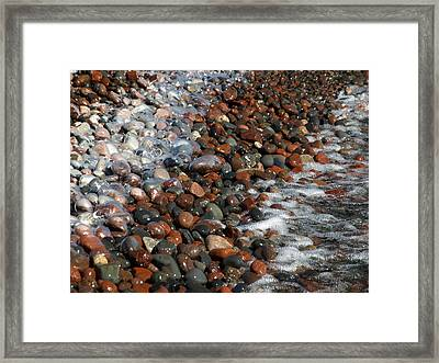 Rocky Shoreline Abstract Framed Print by James Peterson
