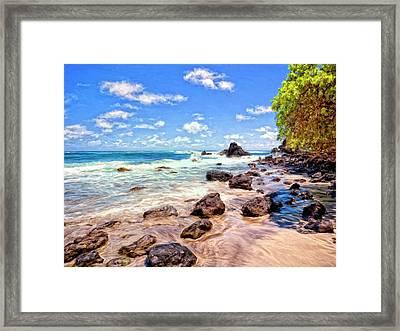 Rocky Shoreline Framed Print by Dominic Piperata