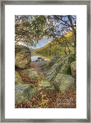 Rocky Shore's Framed Print by Darren Wilkes