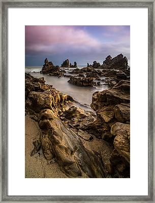 Rocky Southern California Beach 5 Framed Print by Larry Marshall