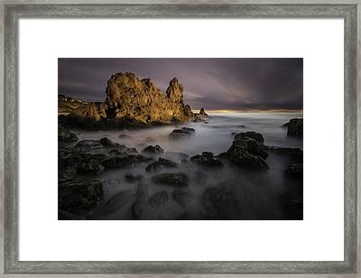Rocky Southern California Beach 6 Framed Print by Larry Marshall