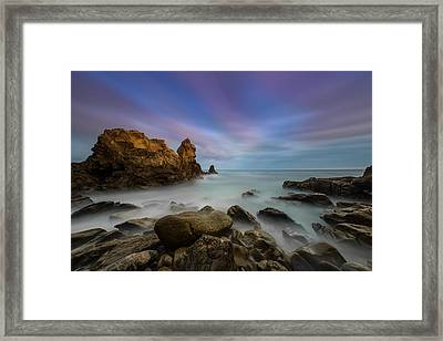Rocky Southern California Beach Framed Print by Larry Marshall