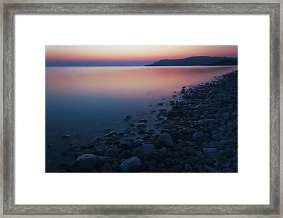 Rocky Sunset Framed Print by Ian Mitchell