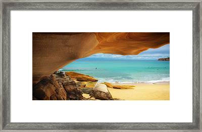 Rocky View Of Tamara Beach Framed Print by Mountain Dreams
