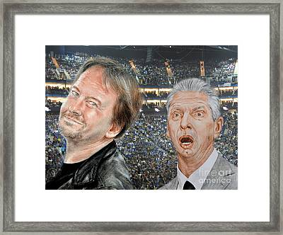 Roddy Piper And Vince Mcmahon  Framed Print by Jim Fitzpatrick