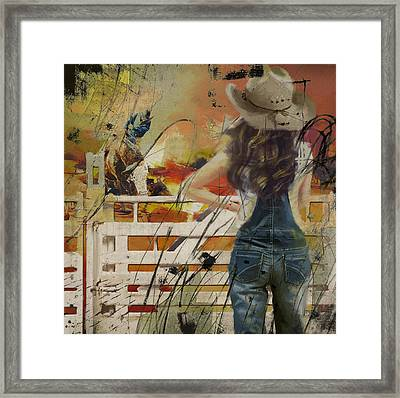 Rodeo 003 Framed Print by Corporate Art Task Force