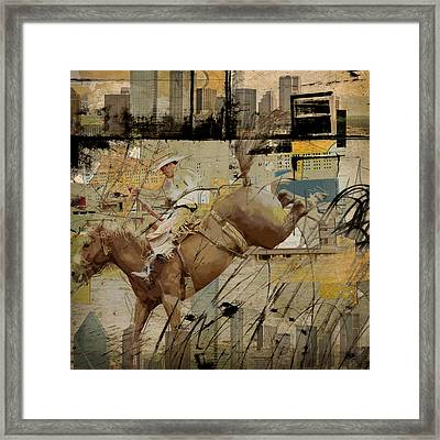 Rodeo Abstract 001 Framed Print by Corporate Art Task Force