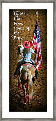 Rodeo America - Land Of The Free Framed Print by Stephen Stookey