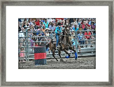 Rodeo Cowgirl Framed Print by Gary Keesler