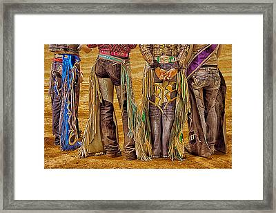 Rodeo Royalty Framed Print by Priscilla Burgers