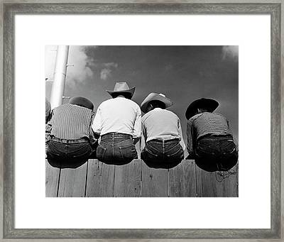 Rodeo Spectators Framed Print by American Philosophical Society