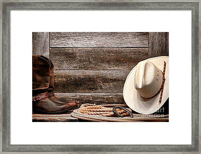 Rodeo Still Life Framed Print by Olivier Le Queinec