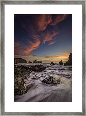 Rodeo Sunset Framed Print by Rick Berk