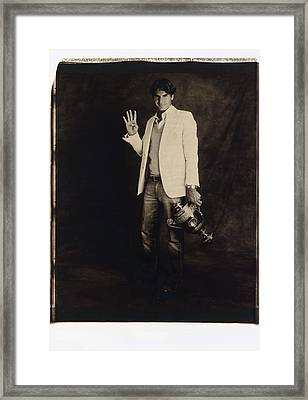 Roger Federer 2 Framed Print by Zenon Texeira