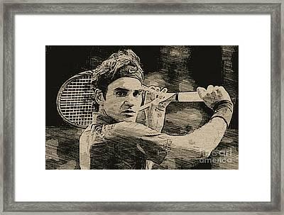 Roger Federer Framed Print by Blackwater Studio