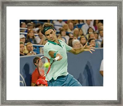Roger Federer Framed Print by David Long